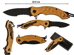 Нож с темляком Lanyard OR Half-Serrated Folding Knife